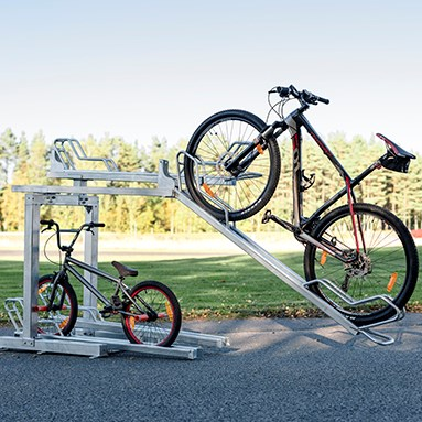 2-storey bike rack