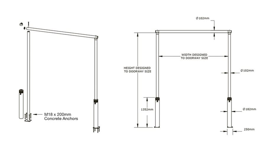doorway schematic axelents smart goal post  axelents smart goal post